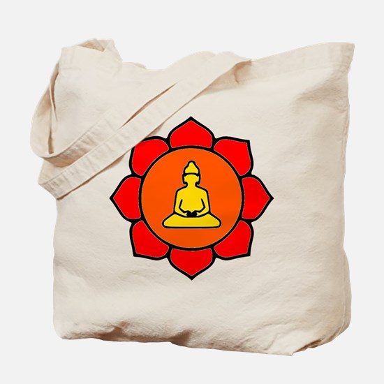 Sitting Lotus Tote Bag