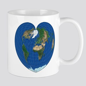 World Map Heart: coffee time Mug