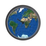 World Map Sphere 1: Wall Clock