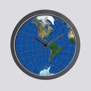 World Map Sphere 2: Wall Clock