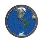 World Map Sphere 2: Wall Clock