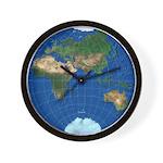 World Map Sphere 3: Wall Clock