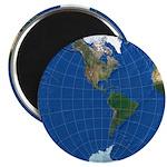 "World Map Sphere 2: 2.25"" Magnet (10x)"
