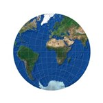 "World Map Sphere 1: 3.5"" Button"