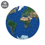 """World Map Sphere 1: 3.5"""" Button (10 pack)"""