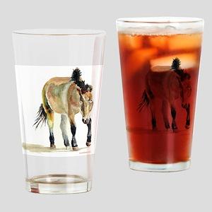 Sheepherding Sissie/Sheltie Drinking Glass