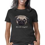 Painted Wee Shug The Pug Women's Classic T-Shirt