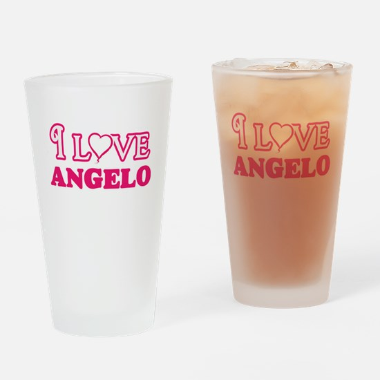 I Love Angelo Drinking Glass