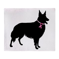 Collie Breast Cancer Support Throw Blanket