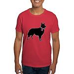 Collie Breast Cancer Support Dark T-Shirt