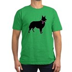 Collie Breast Cancer Support Men's Fitted T-Shirt