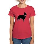 Collie Breast Cancer Support Women's Dark T-Shirt