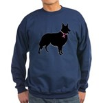 Collie Breast Cancer Support Sweatshirt (dark)