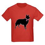 Collie Breast Cancer Support Kids Dark T-Shirt