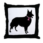 Collie Breast Cancer Support Throw Pillow