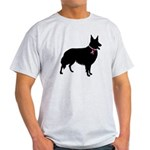 Collie Breast Cancer Support Light T-Shirt
