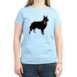 Collie Breast Cancer Support Women's Light T-Shirt