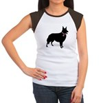 Collie Breast Cancer Support Women's Cap Sleeve T-