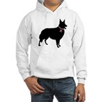 Collie Breast Cancer Support Hooded Sweatshirt