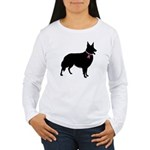 Collie Breast Cancer Support Women's Long Sleeve T