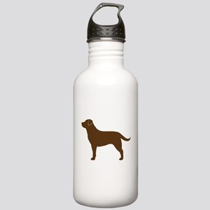 Chocolate Labrador Stainless Water Bottle 1.0L