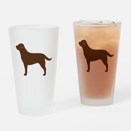 Chocolate Labrador Drinking Glass