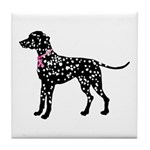 Dalmatian Breast Cancer Support Tile Coaster