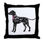 Dalmatian Breast Cancer Support Throw Pillow