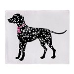 Dalmatian Breast Cancer Support Throw Blanket