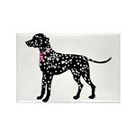 Dalmatian Breast Cancer Support Rectangle Magnet (
