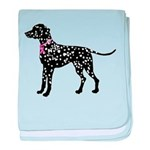 Dalmatian Breast Cancer Support baby blanket