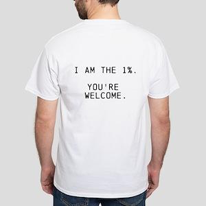 1% White T-Shirt