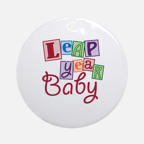 Leap Year Baby Ornament (Round)