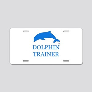 Dolphin Trainer Aluminum License Plate
