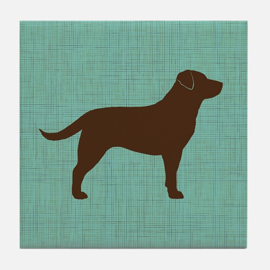 Chocolate Labrador Retriever Tile Coaster