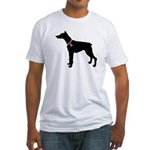 Doberman Pinscher Breast Cancer Support Fitted T-S