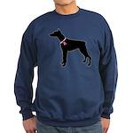 Doberman Pinscher Breast Cancer Support Sweatshirt