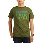 I Support Fair Trade Organic Men's T-Shirt (dark)