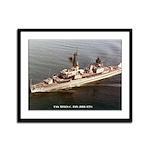 USS MYLES C. FOX Framed Panel Print