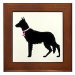 German Shepherd Breast Cancer Support Framed Tile