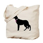German Shepherd Breast Cancer Support Tote Bag