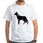 German Shepherd Breast Cancer Support White T-Shir