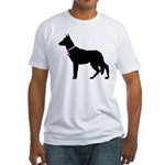 German Shepherd Breast Cancer Support Fitted T-Shi