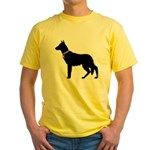 German Shepherd Breast Cancer Support Yellow T-Shi