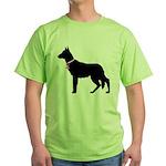 German Shepherd Breast Cancer Support Green T-Shir