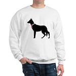German Shepherd Breast Cancer Support Sweatshirt