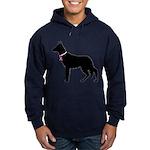 German Shepherd Breast Cancer Support Hoodie (dark