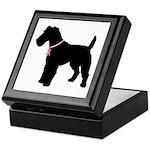 Fox Terrier Breast Cancer Support Keepsake Box