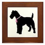 Fox Terrier Breast Cancer Support Framed Tile