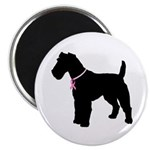 Fox Terrier Breast Cancer Support Magnet